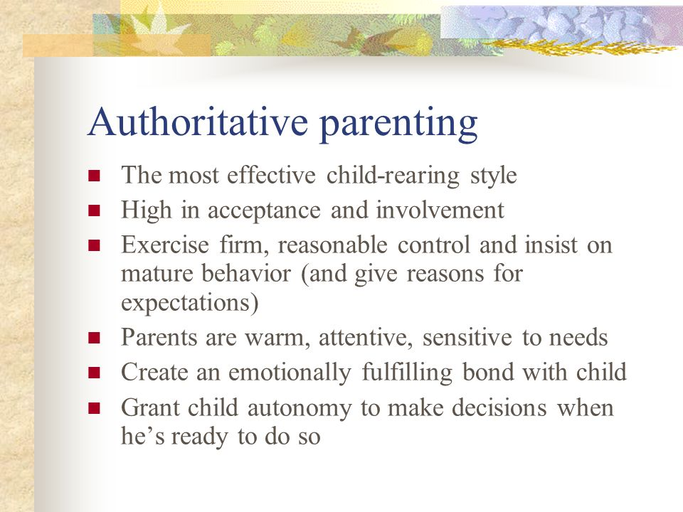 proximal parenting style