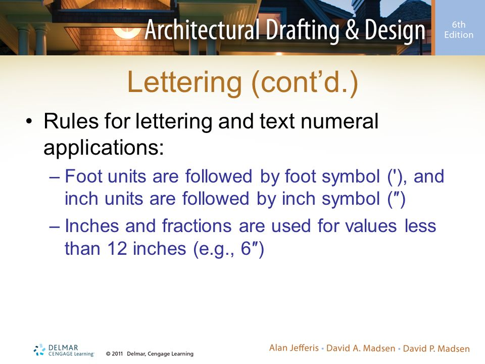 Architectural Lines And Lettering Ppt Download