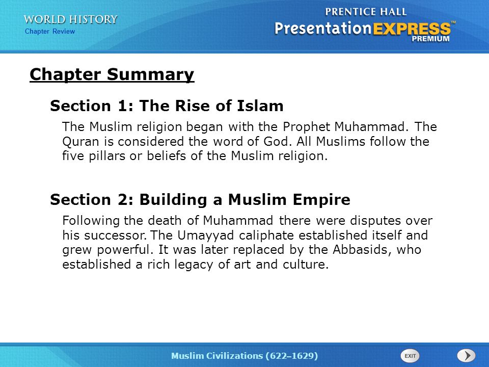 Chapter Summary Section 1: The Rise of Islam - ppt download