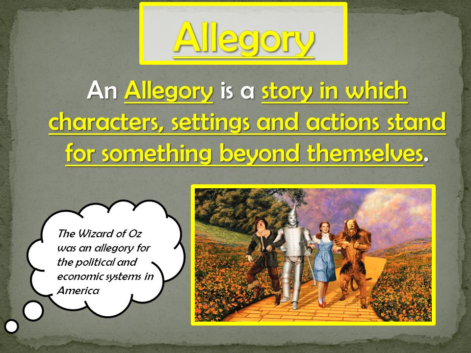 wizard of oz allegory characters