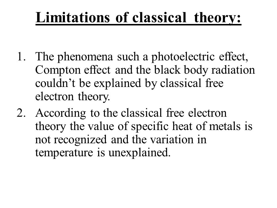 UNIT 1 FREE ELECTRON THEORY  - ppt download