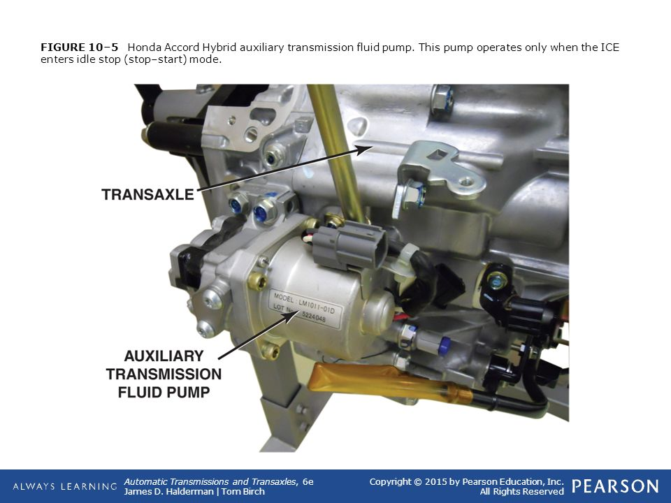 Figure 10 5 Honda Accord Hybrid Auxiliary Transmission Fluid Pump