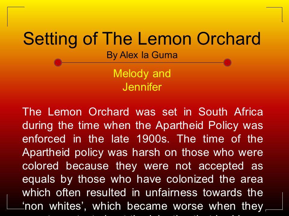 the lemon orchard analysis
