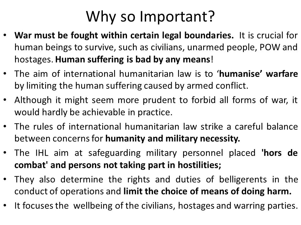 Lecture Notes on Concept of International Humanitarian Law Gyan