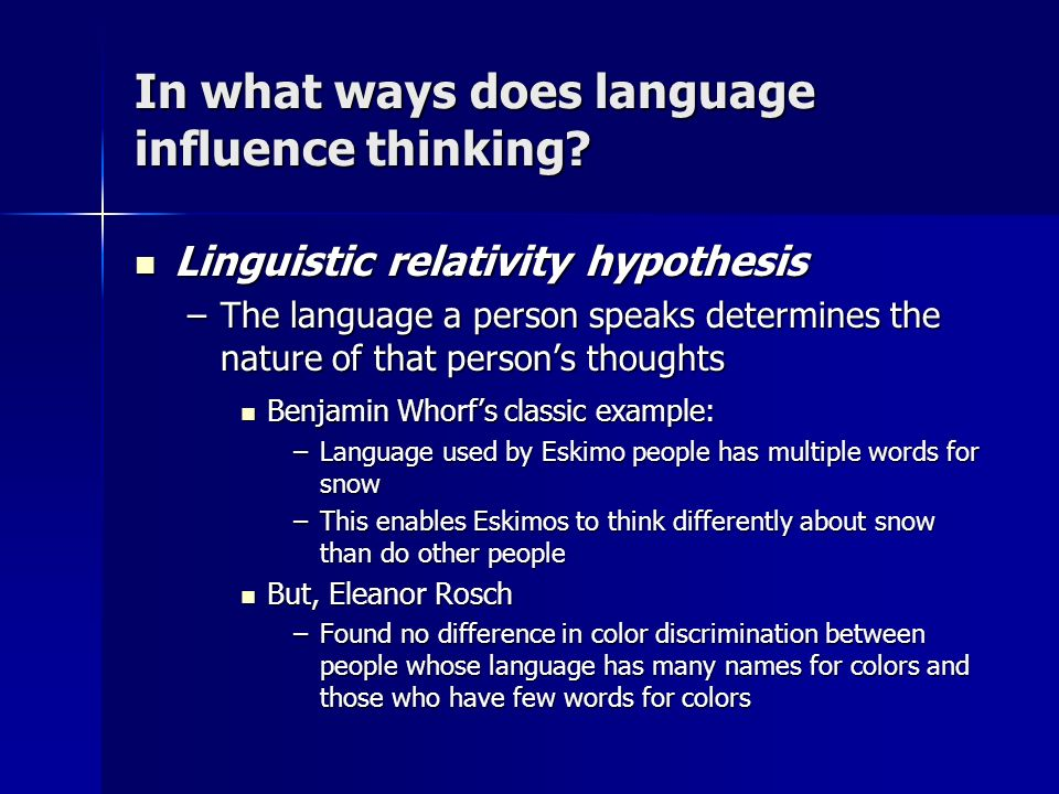 how does language shape thought