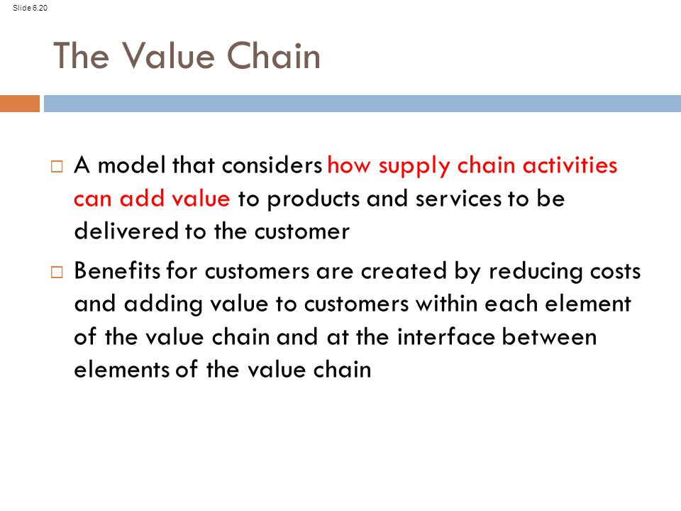 adding value to supply chain