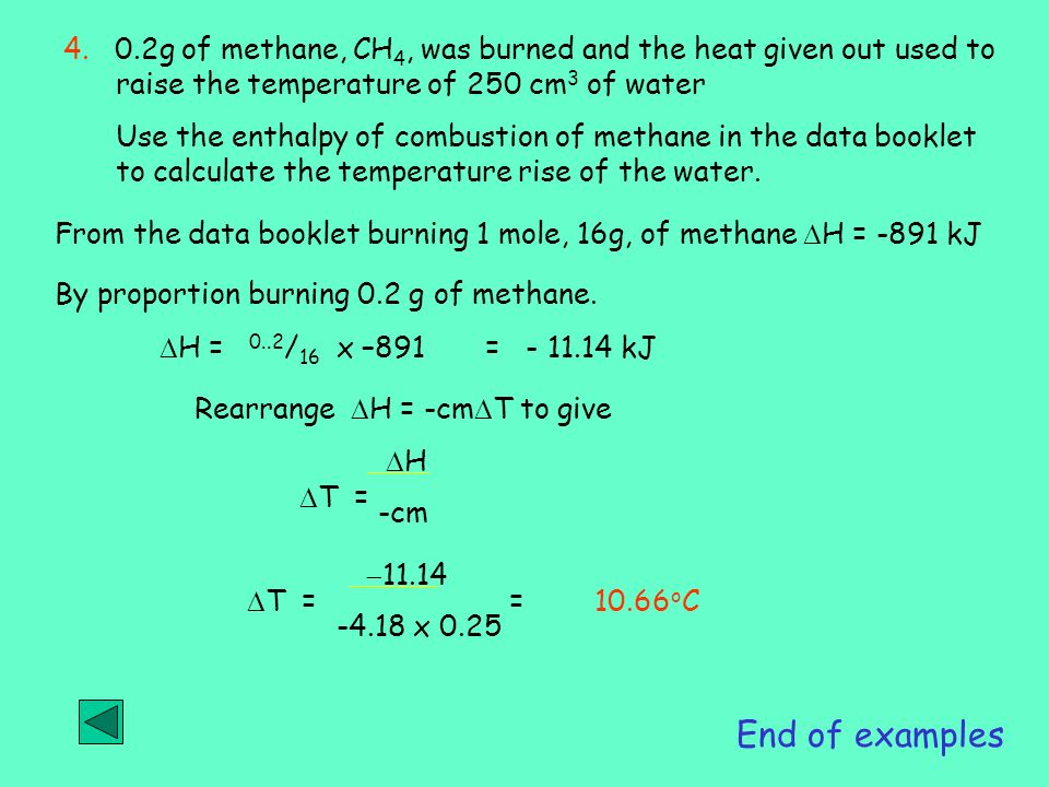 Mole, gas volume and reactions, Chemical energy and Enthalpy