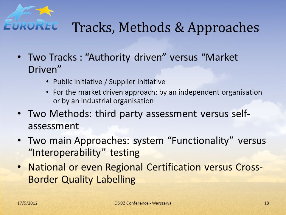 Tracks, Methods & Approaches