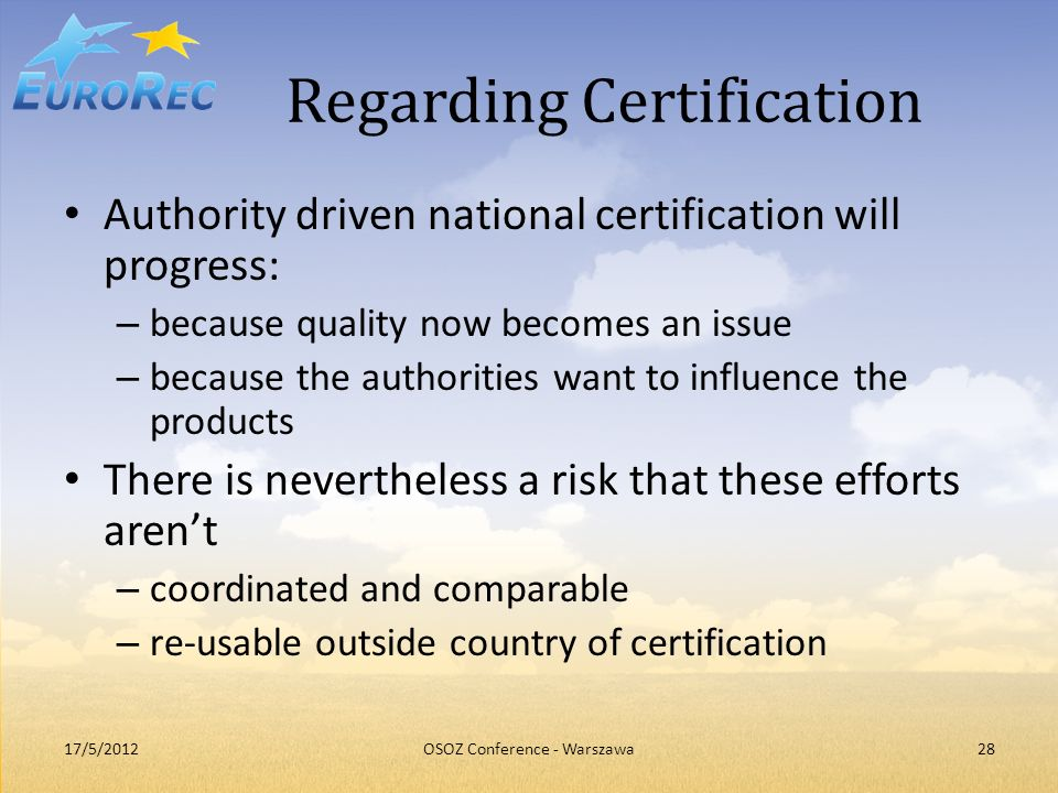 Regarding Certification