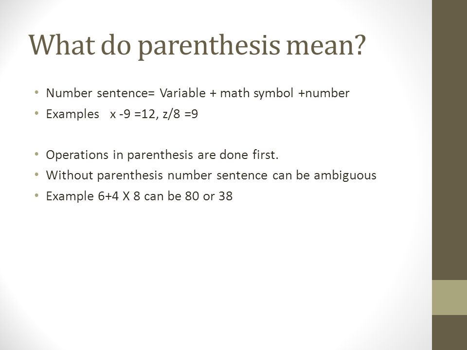 Lesson7 4 Parenthesis In Number Sentence Ppt Video Online Download