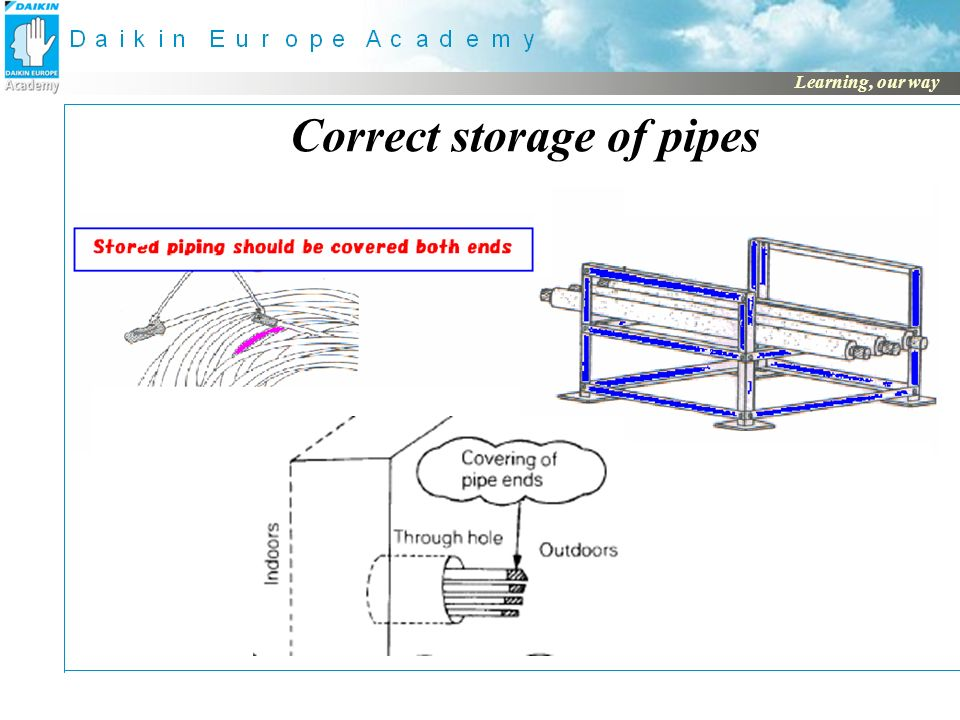 4 correct storage of pipes