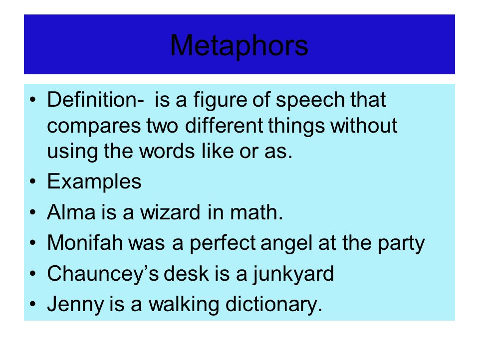 Metaphor Figure Of Speech Examples Image Collections Example Cover