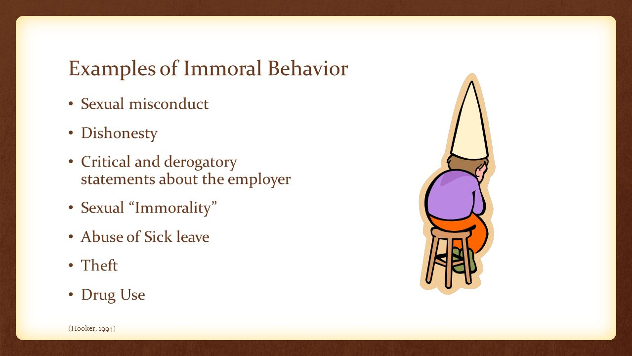 Examples of sexual immorality