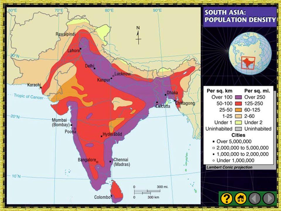 Presentation plus glencoe world geography ppt video online download 5 south asia population density publicscrutiny Gallery