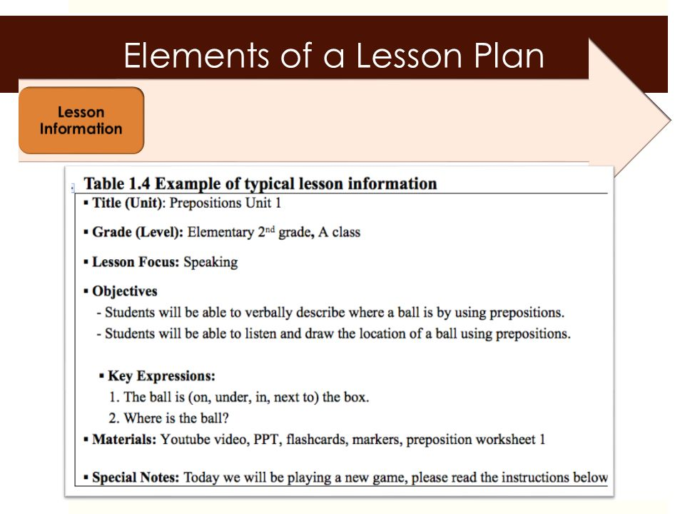 Lesson Planning a skill at doing a specified thing, typically one
