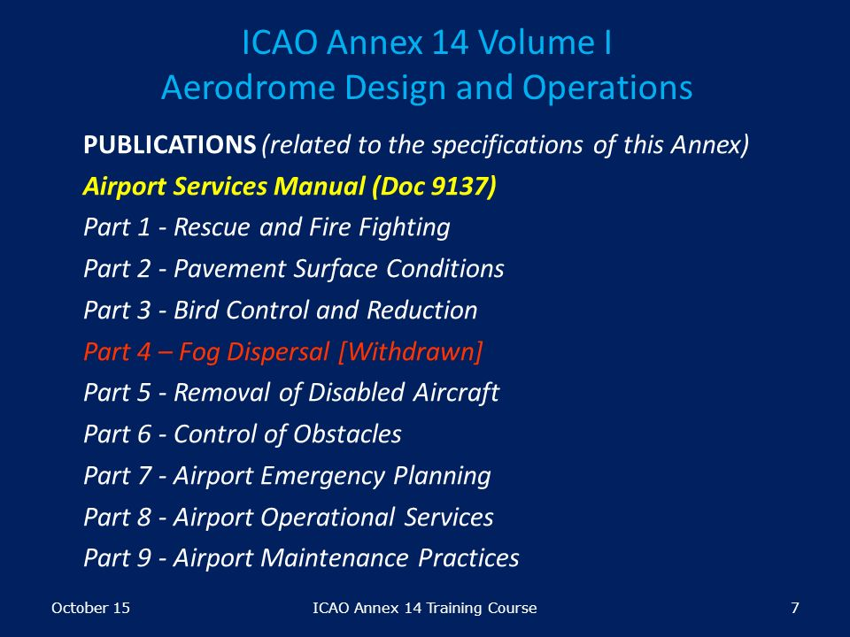 icao requirements on certification of aerodromes module ppt video rh slideplayer com
