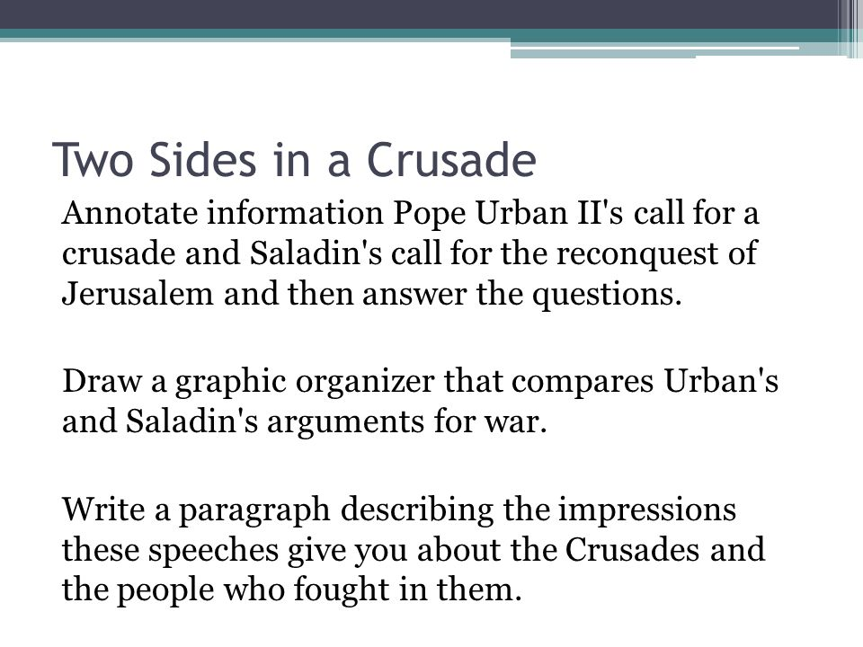 Unit 3 Middle Ages Lesson 4 Crusades Ppt Video Online Download