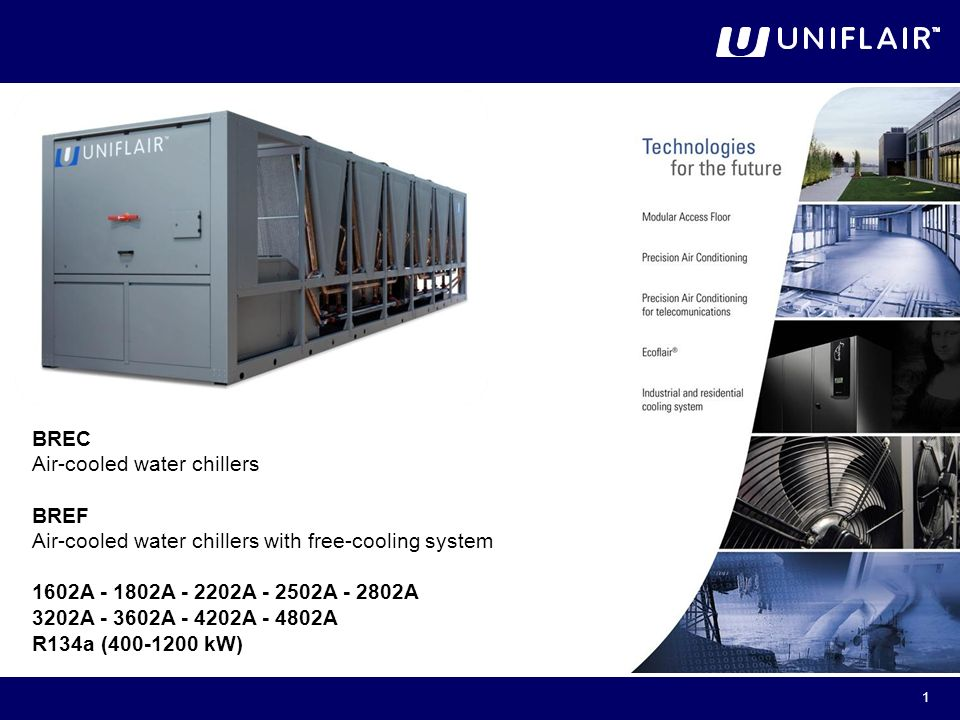 BREC Air-cooled water chillers BREF - ppt download