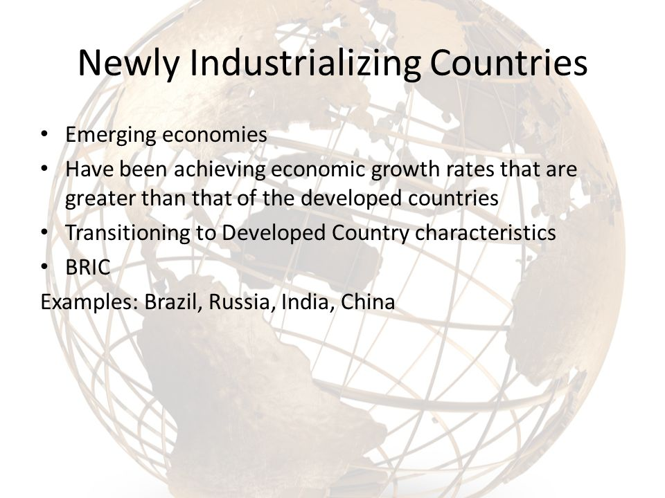 what is newly industrialized