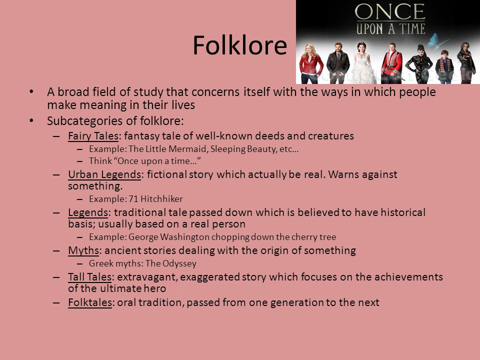 Fantasy and Fairy Tales - ppt download