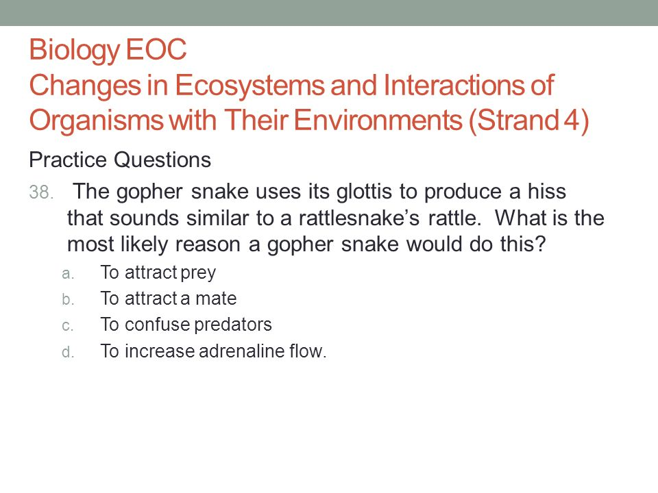Biology EOC End Of Course Exam Ppt Download