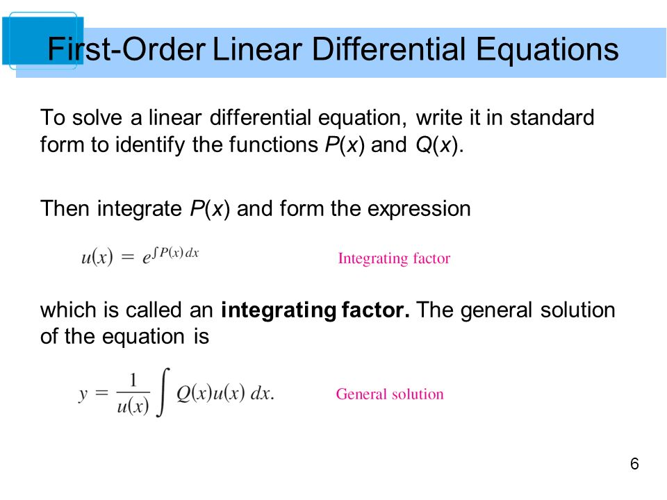 6 Differential Equations Ppt Download