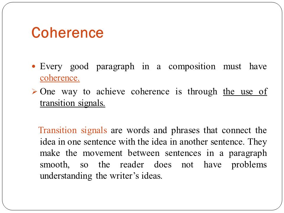 UNITY AND COHERENCE  - ppt download