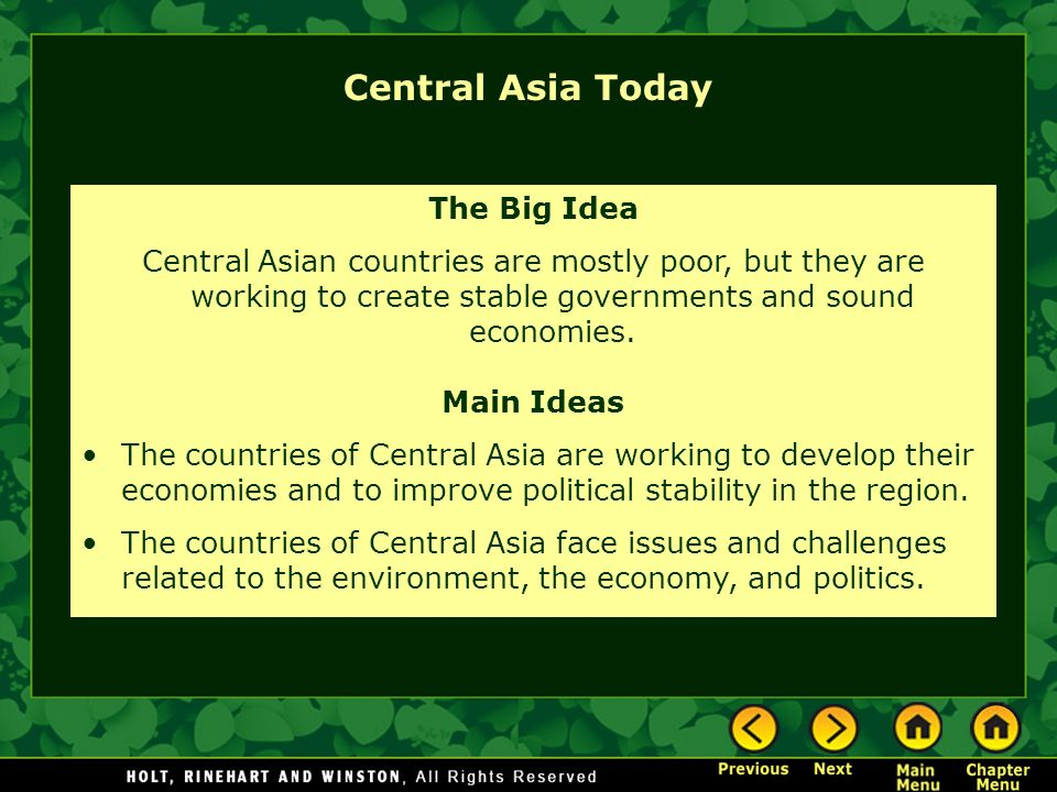 Chapter 10 – Central Asia Section Notes Video Maps Close-up - ppt