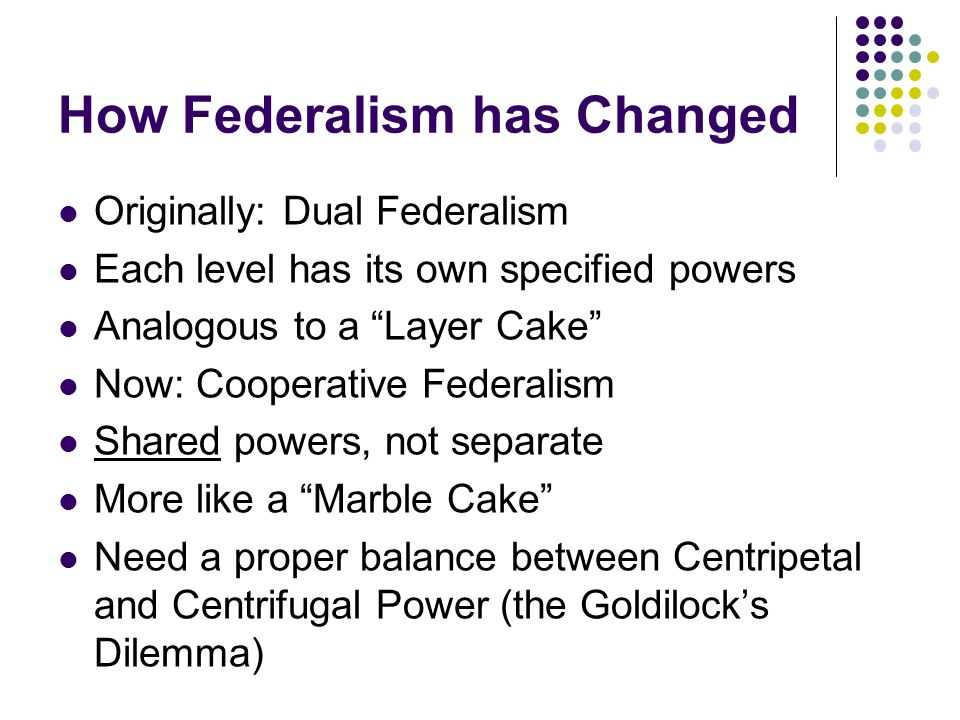 how has federalism changed