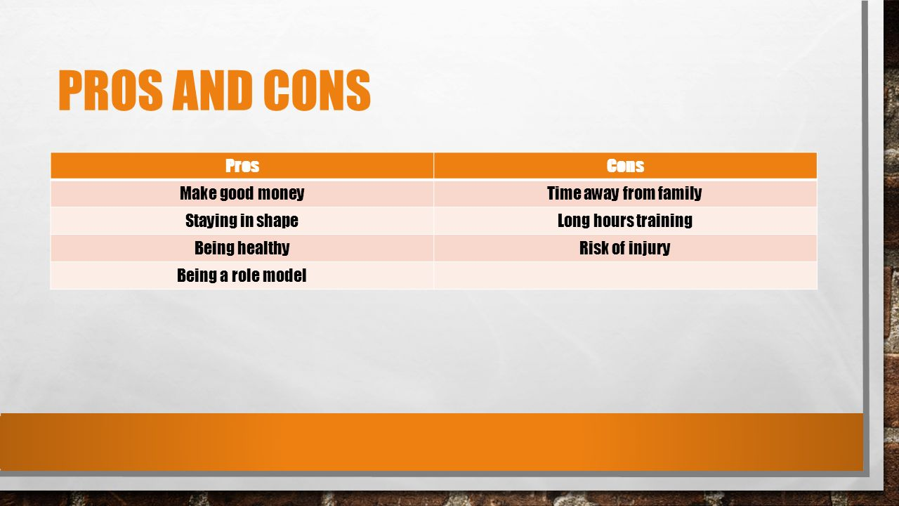 athletes pay pros and cons