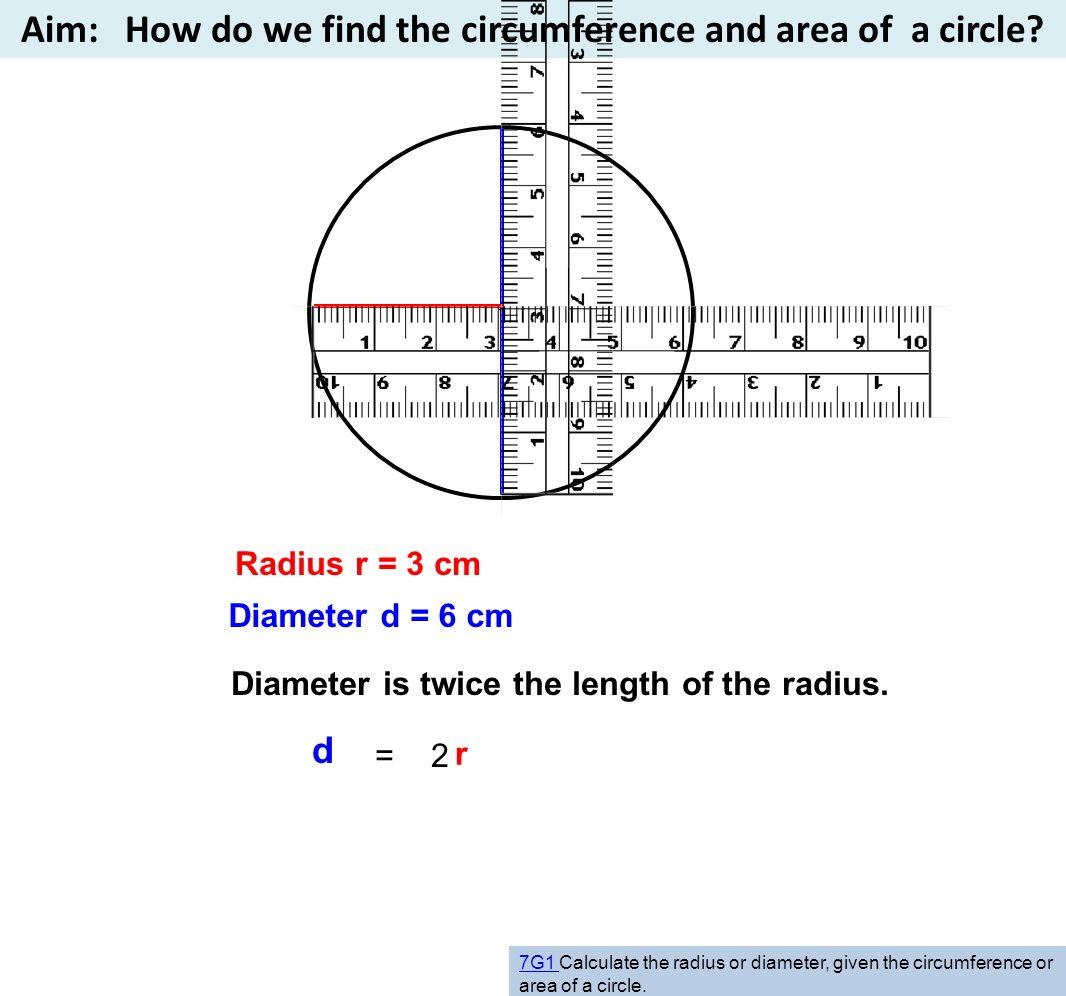 D Radius R 3 Cm Diameter D 6 Cm