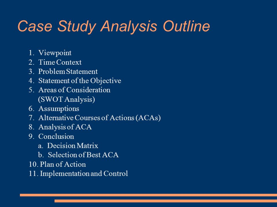 areas of consideration in case study sample