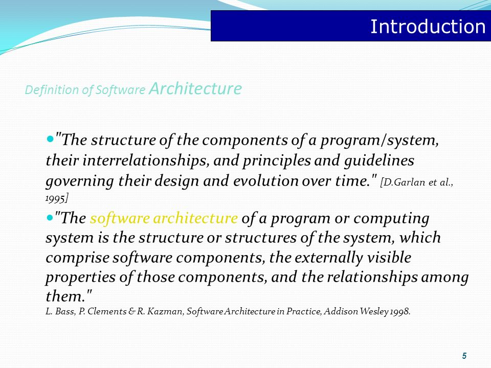 Architecture Software Architecture Design Patterns