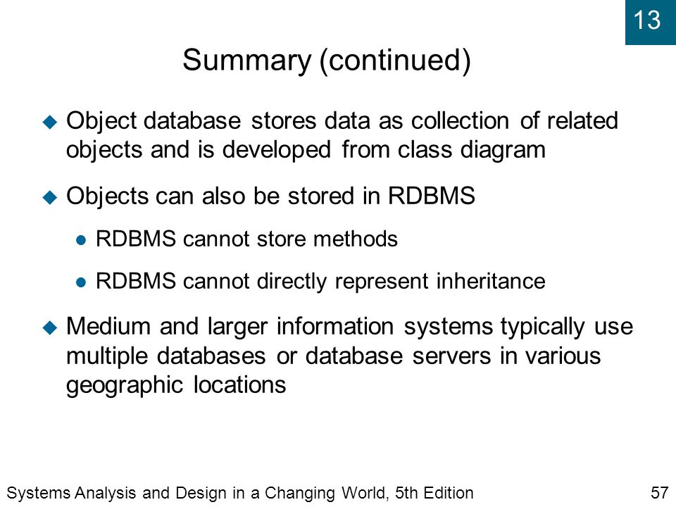 Chapter 12 designing databases ppt download summary continued object database stores data as collection of related objects and is ccuart Image collections