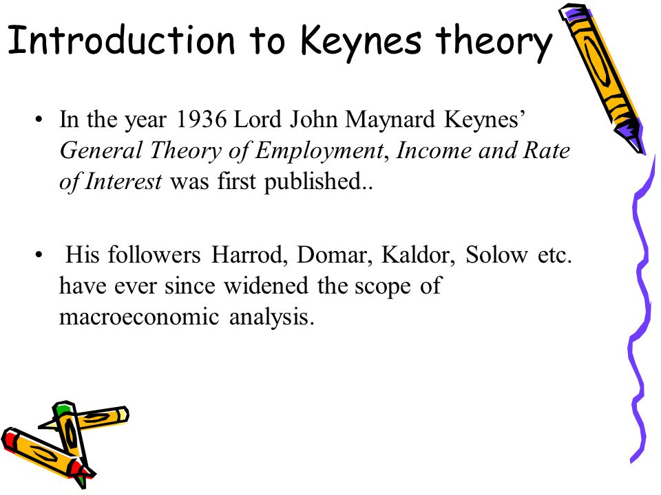 keynesian theory of national income