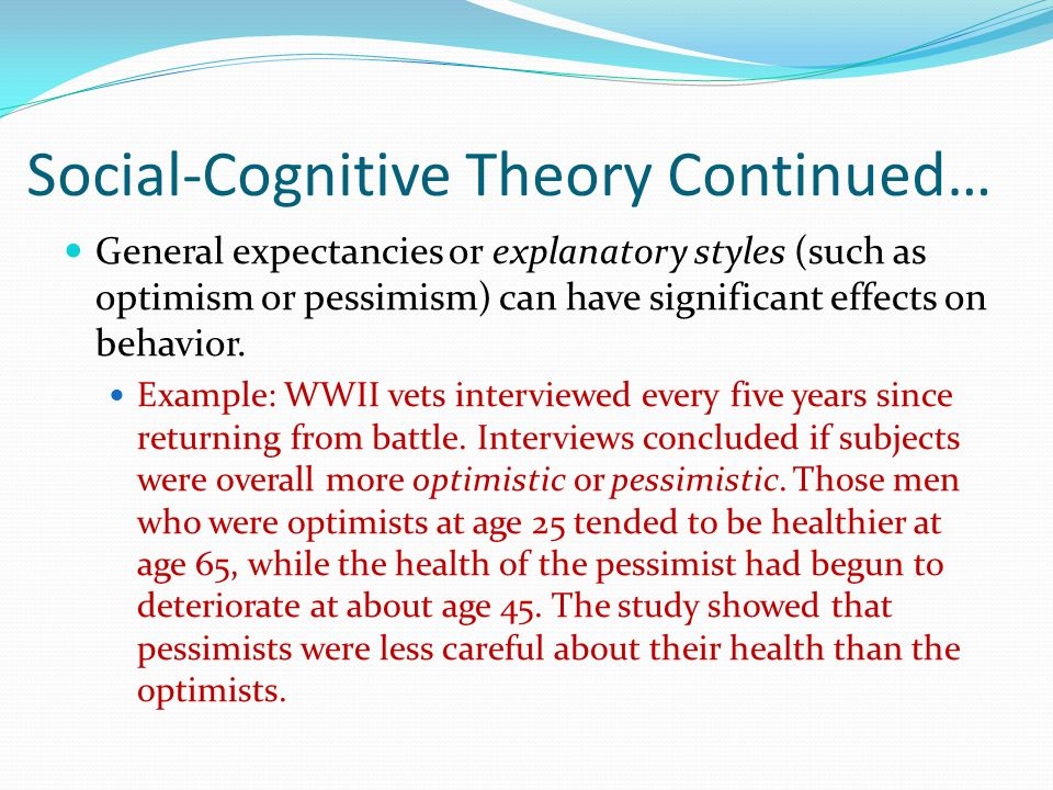 Social Cognitive Theory Ppt Download