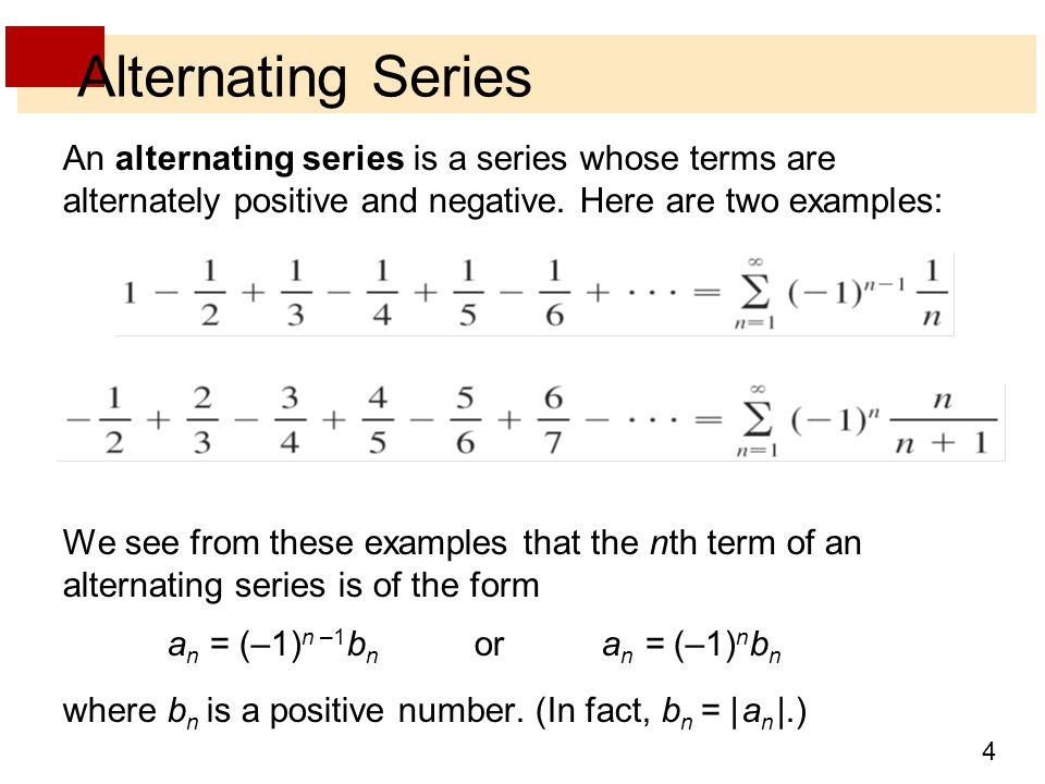 Alternating series examples