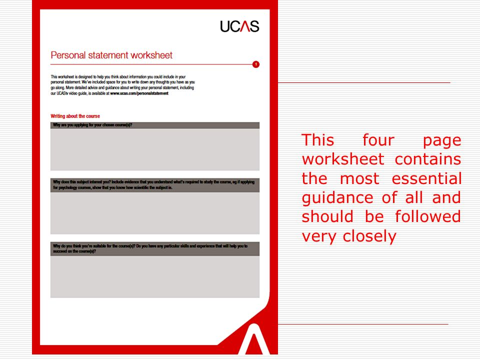 WRITING THE UCAS PERSONAL STATEMENT - ppt video online download