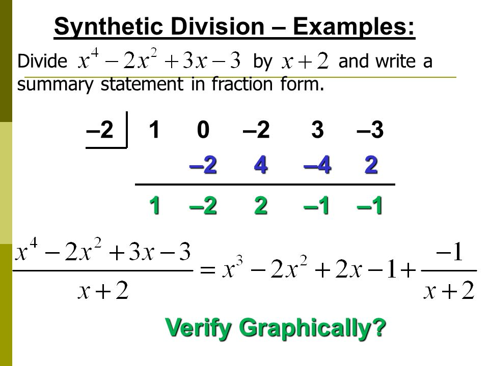 Long Division Algorithm And Synthetic Division Ppt Video Online