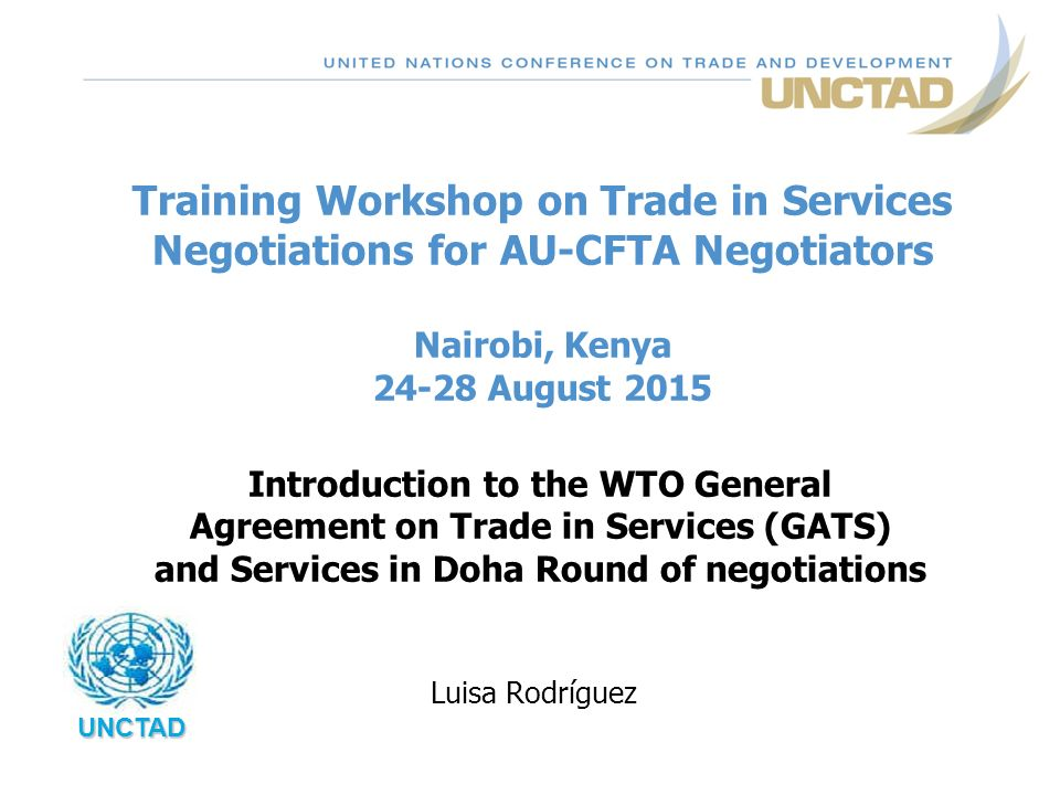 Training Workshop On Trade In Services Negotiations For Au Cfta