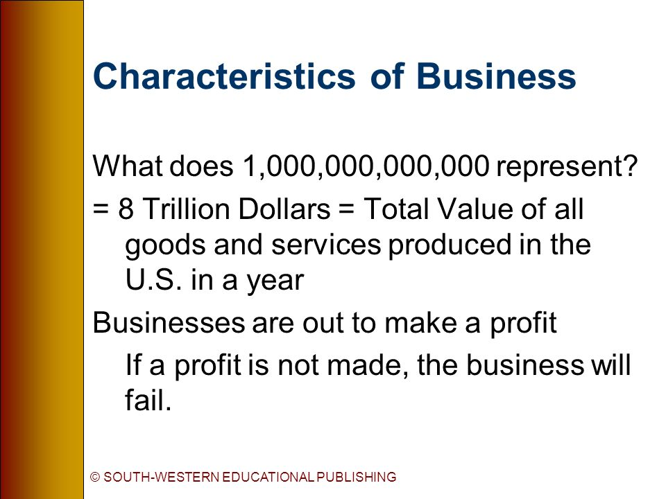 what are the characteristics of business