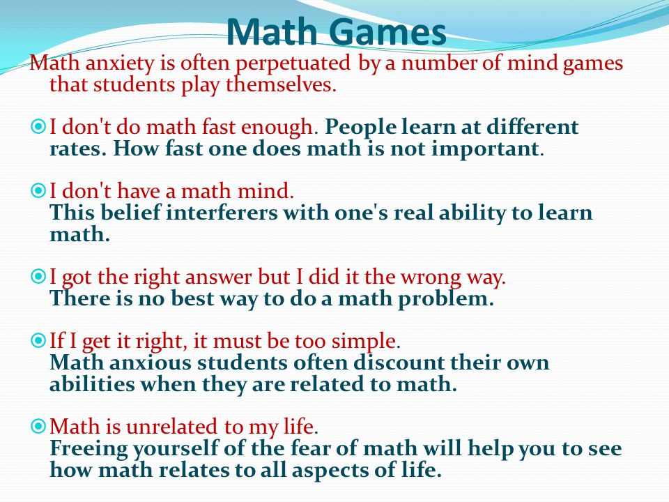 Academic Advising Math Anxiety - ppt download