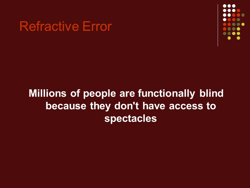 Ppt – refractive errors powerpoint presentation | free to download.