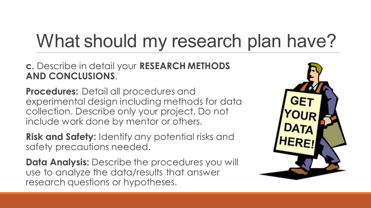 What should my research plan have