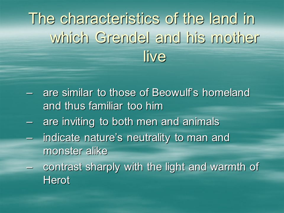 characteristics of grendel in beowulf