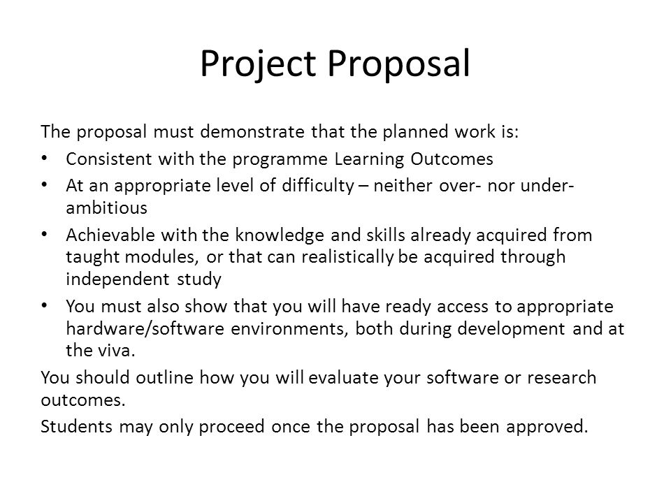 Proposal For A Project Example A Proposal Letter For A Project