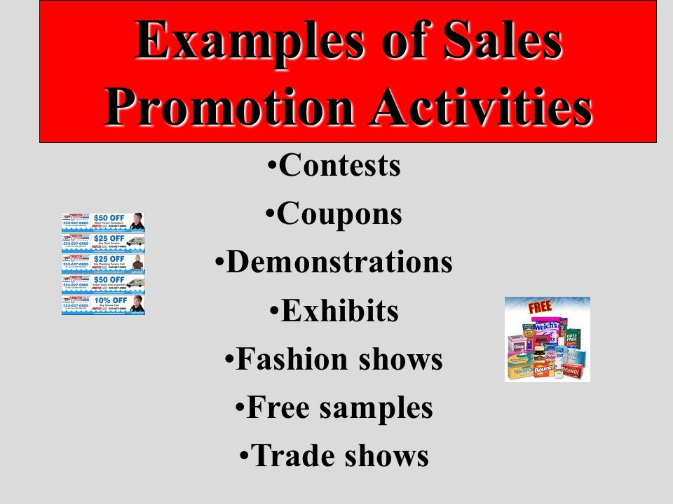 advertising personal selling coupons and sweepstakes are forms of sales promotion promotional activity other than 1639