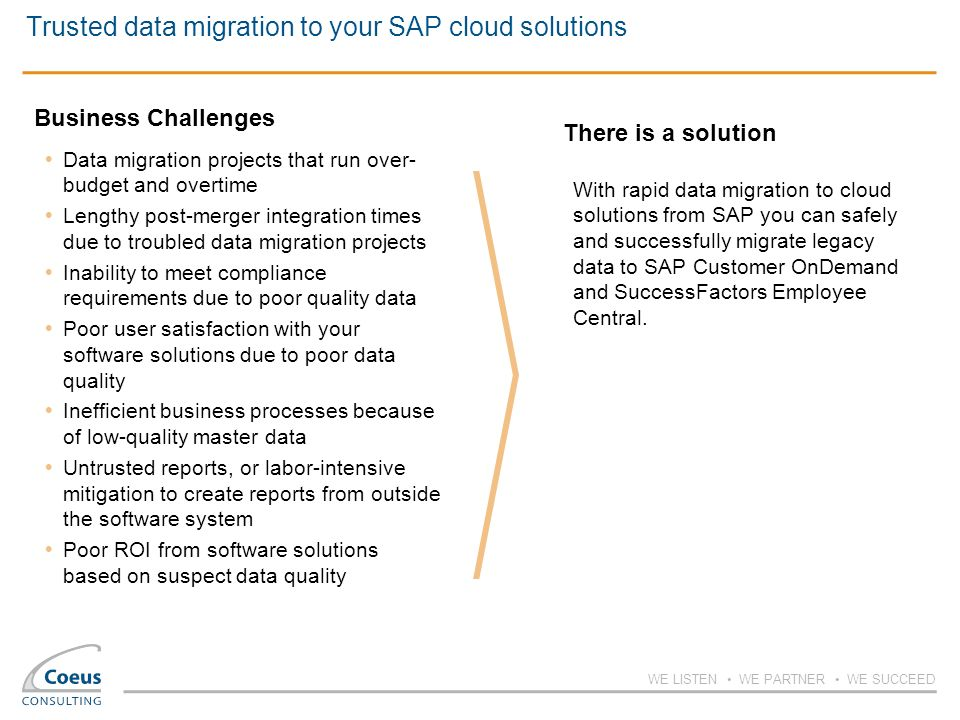 Rapid data migration to cloud solutions from SAP - ppt download
