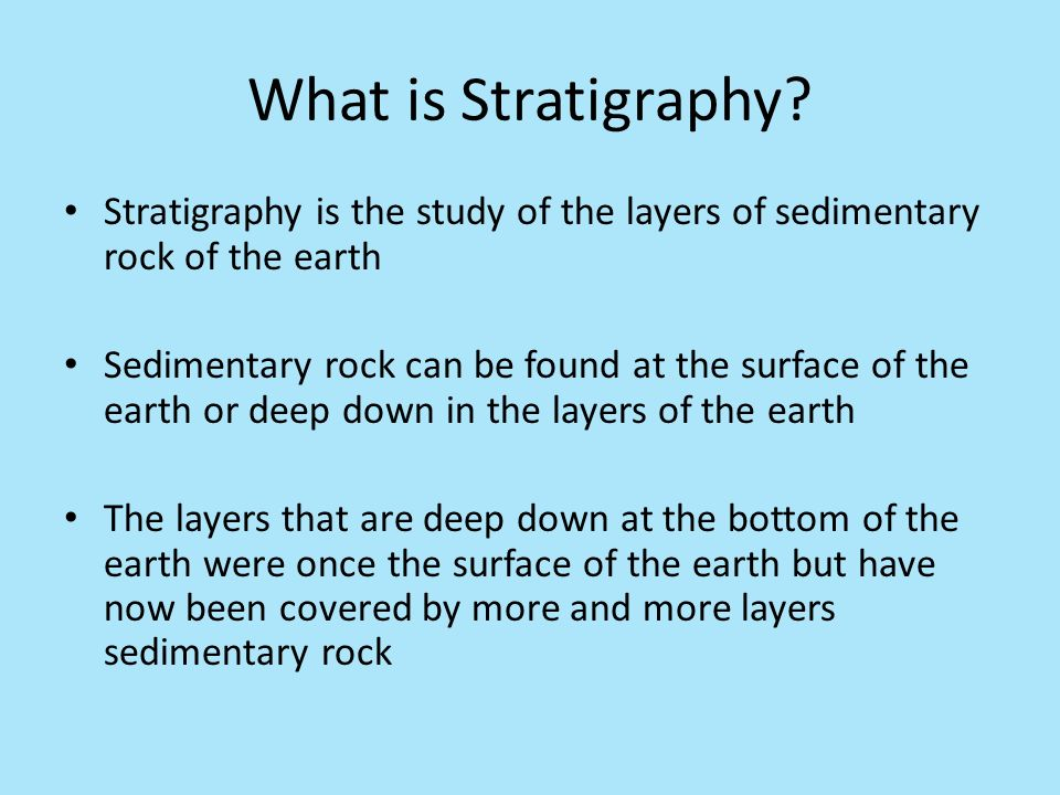 what is stratigraphy