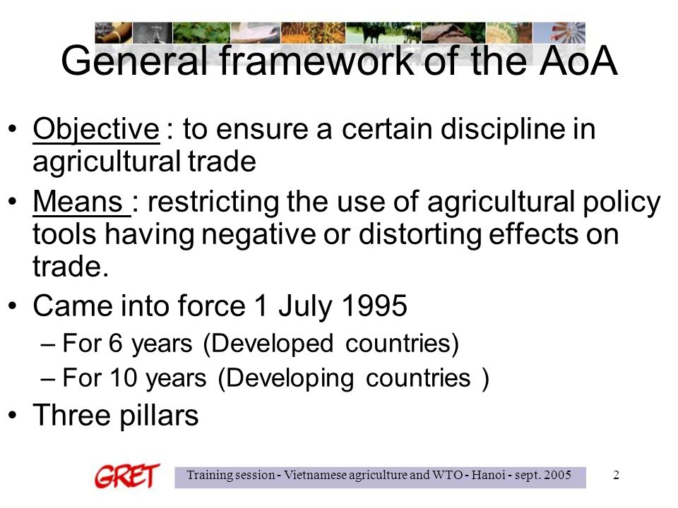 pillars of agreement on agriculture